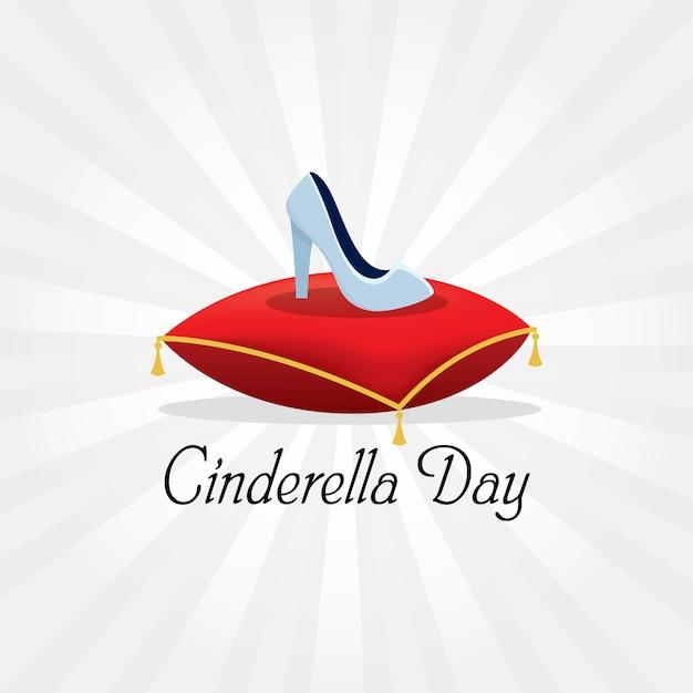Cinderella day Premium Vector