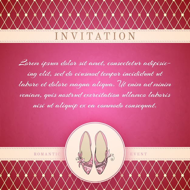 cinderella princess invitation template vector free download