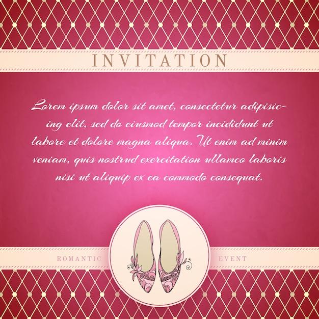 Cinderella princess invitation template Free Vector