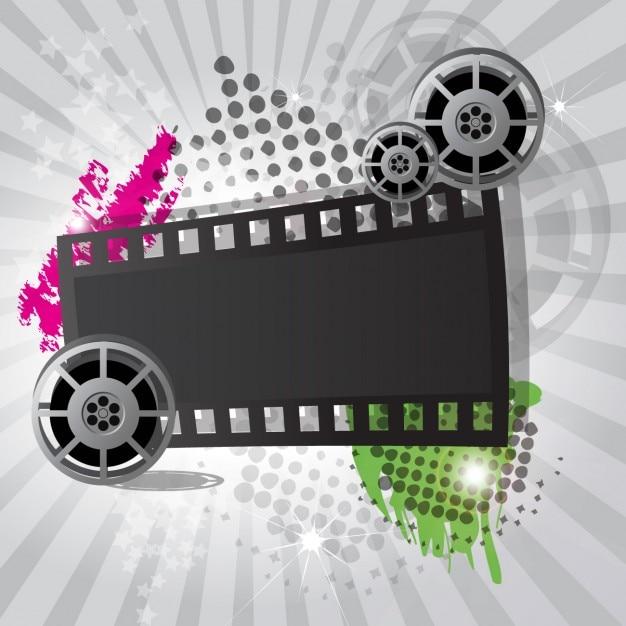 Cinema background design Free Vector