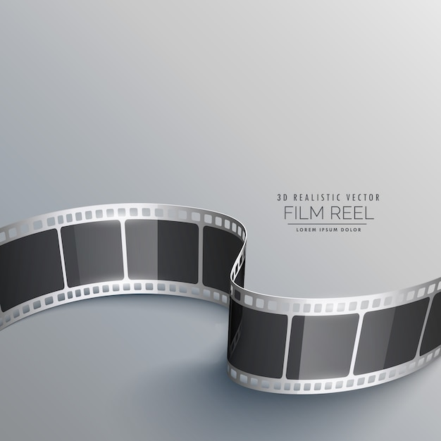 cinema background with 3d film strip vector free download