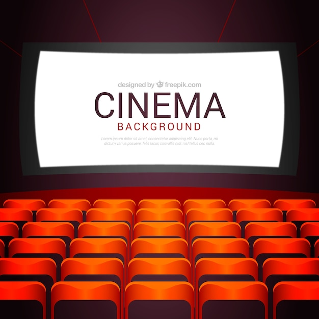 Cinema Background With Armchairs Vector Free Download