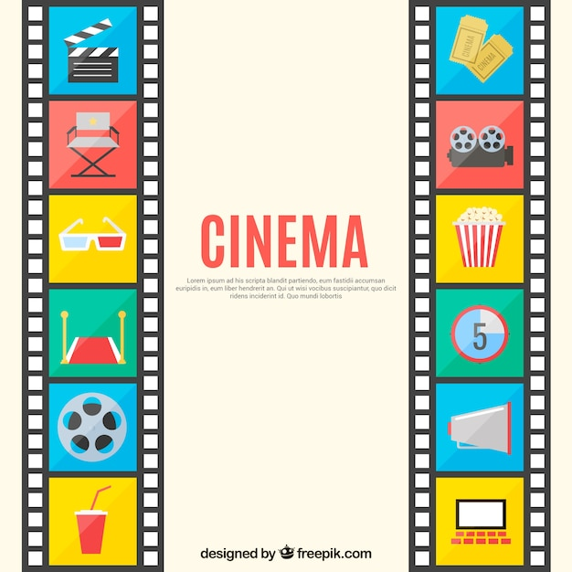 Cinema Background Vector Free Download