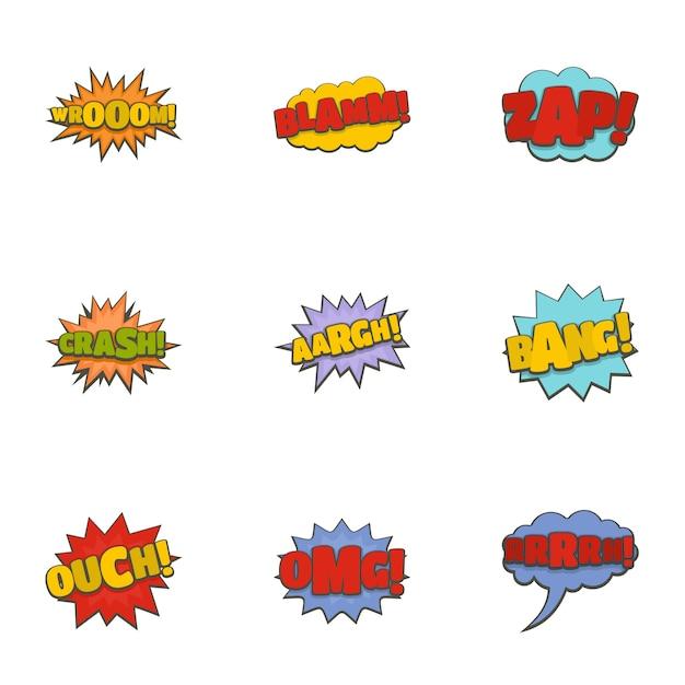 Cinema banner icons set. cartoon set of 9 cinema banner vector icons Premium Vector