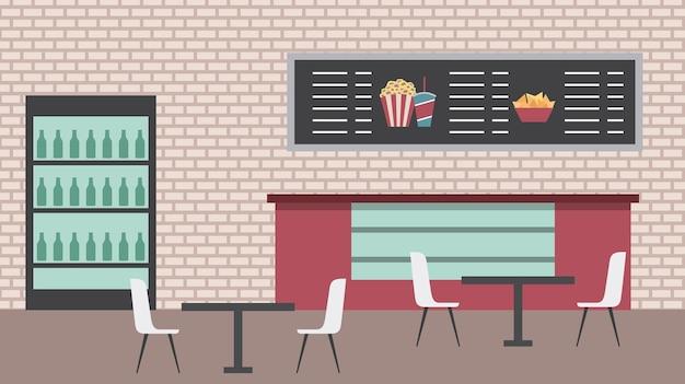 Cinema bar Premium Vector