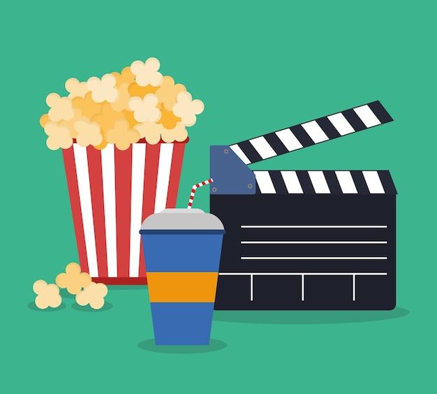 Cinema concept with icon design Premium Vector
