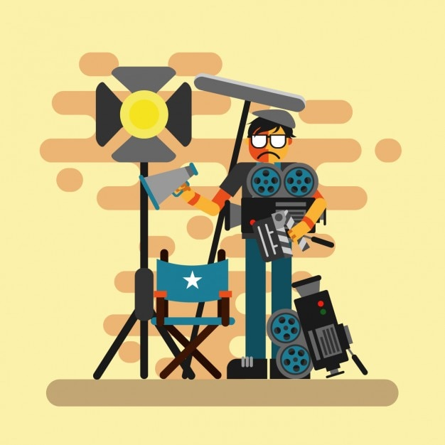 Cinema director design Free Vector
