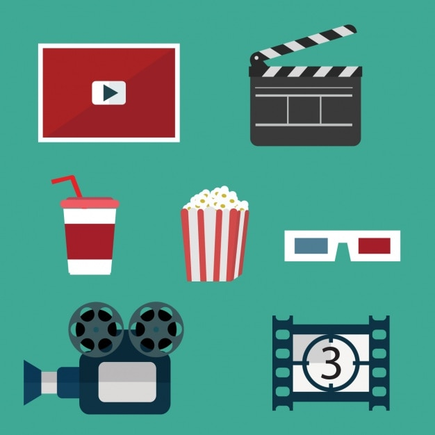 Cinema Elements Collection Vector Free Download