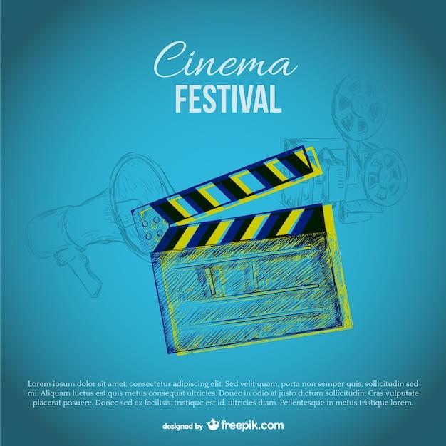 Cinema festival template Free Vector