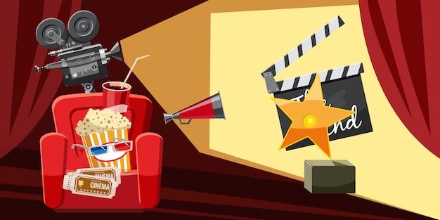 Cinema movie award background Premium Vector