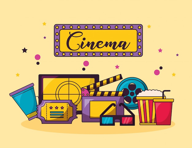 Illustrazione di film cinema Vettore gratuito