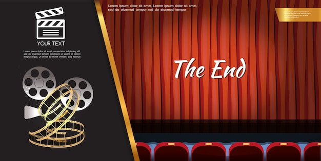 Cinema movie template Free Vector
