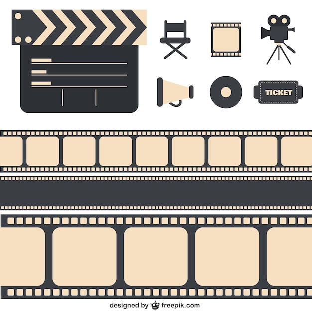 Cinema pack Free Vector