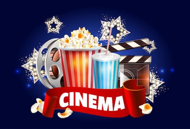 Cinema poster design Premium Vector