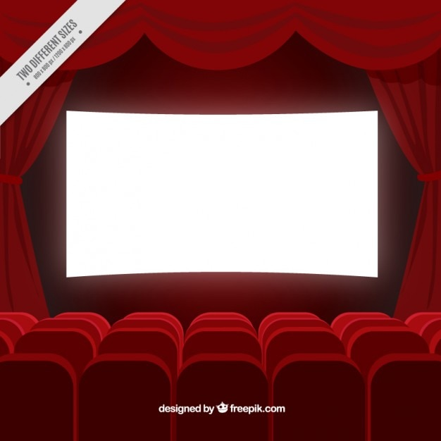 Cinema Room Background In Red Color Vector Free Download
