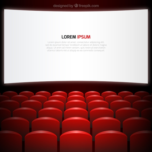 Cinema Screen And Seats Free Vector
