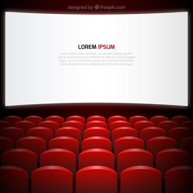 Cinema screen and seats Free Vector