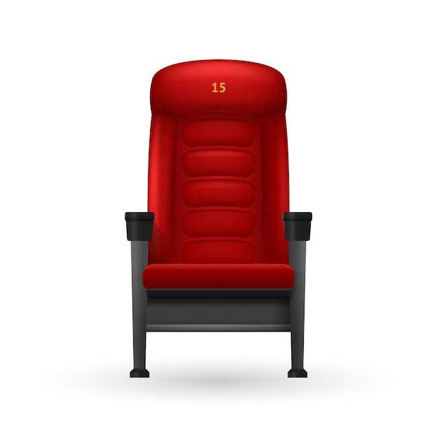 Cinema seat illustration Free Vector