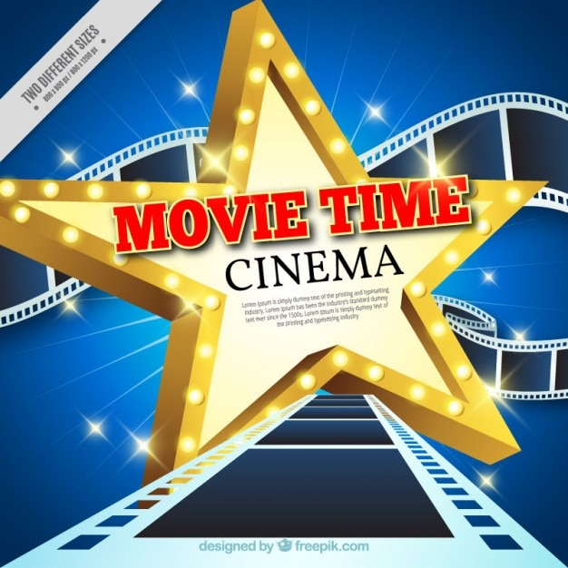 Cinema Star With Frames Background Vector Free Download