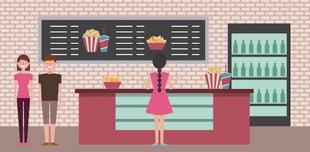 Cinema theater Premium Vector