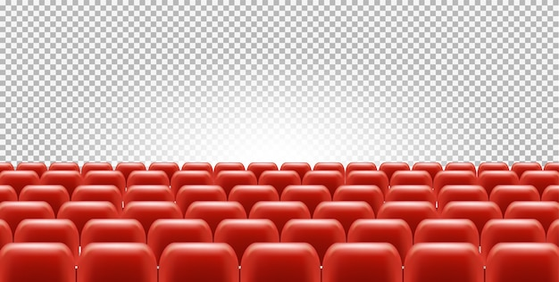 Cinema or theatre seats in empty hall Premium Vector