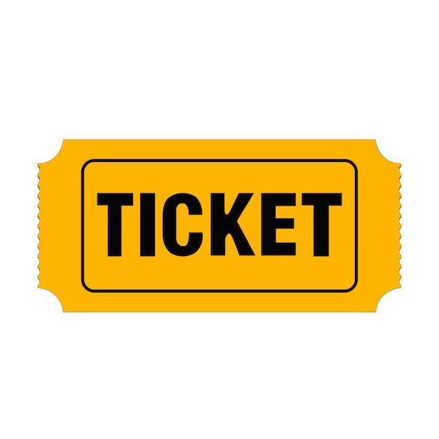 Cinema ticket Premium Vector