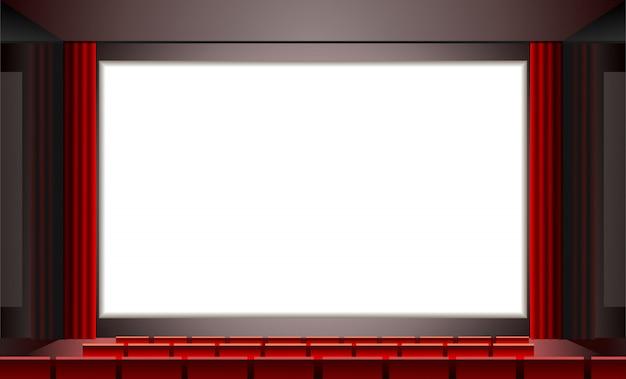 シネマwhith emty白い画面、イラスト Premiumベクター