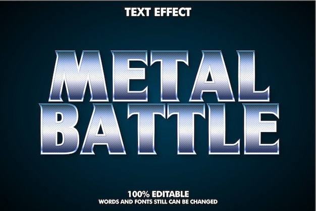 Cinematic text effect for movie title, metal text effect Premium Vector