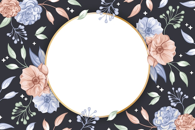 Circle badge shape for wallpaper concept Free Vector