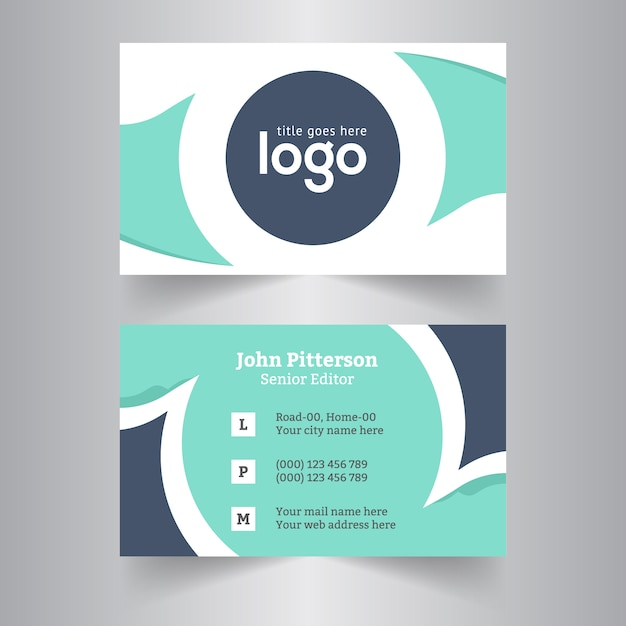 Circle business card design vector premium download circle business card design premium vector colourmoves