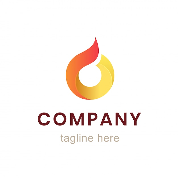 Circle company logo design. element for business identity and branding. Premium Vector