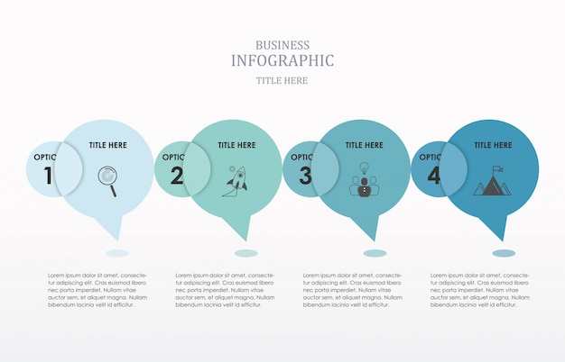 Circle conversation  infographics number options. Premium Vector