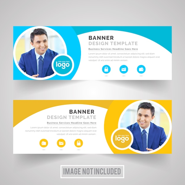 Circle Corporate Web Banner Design Vector | Premium Download