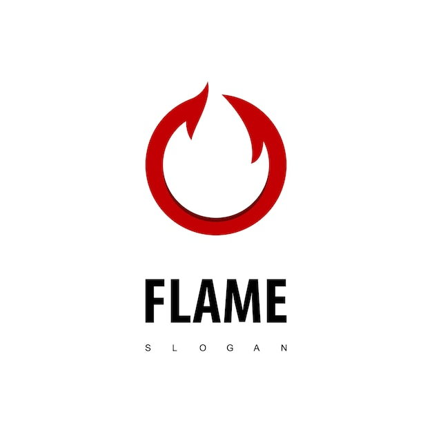 Circle flame logo Premium Vector