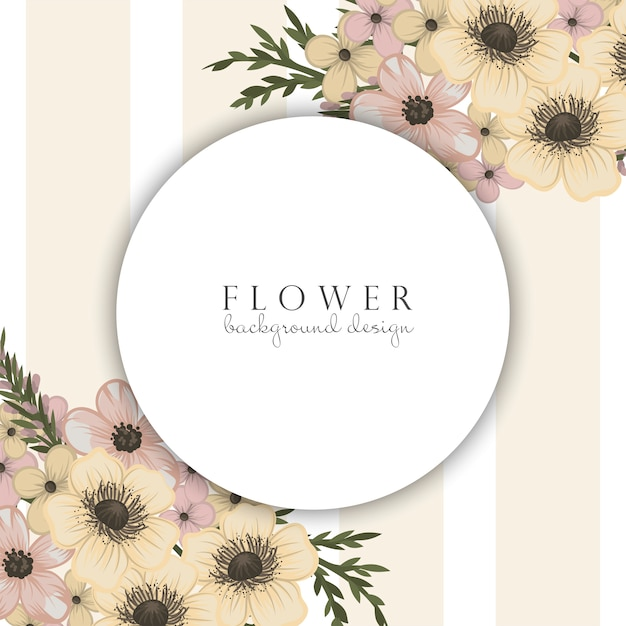 Circle flower borders Free Vector
