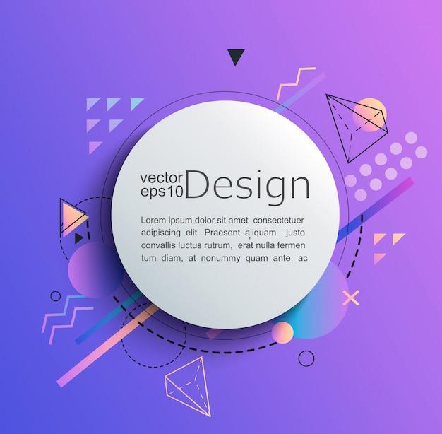 Circle frame on gradient background Premium Vector