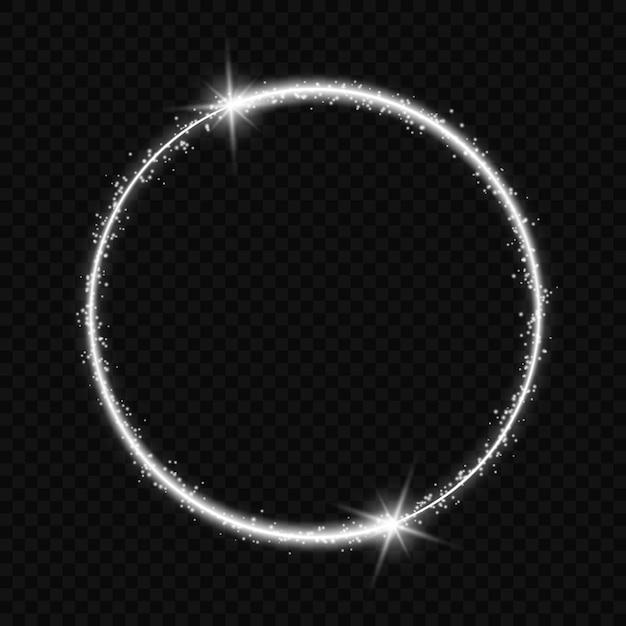 Круглая рамка со световым эффектом. Premium векторы