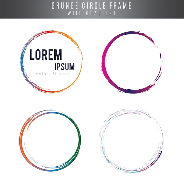 Circle frames in grunge style Premium Vector