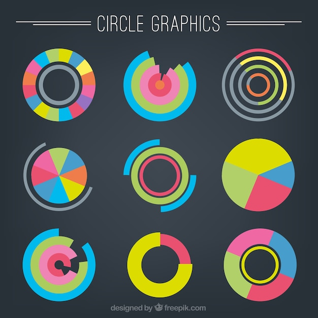 Circle graphics Vector | Premium Download