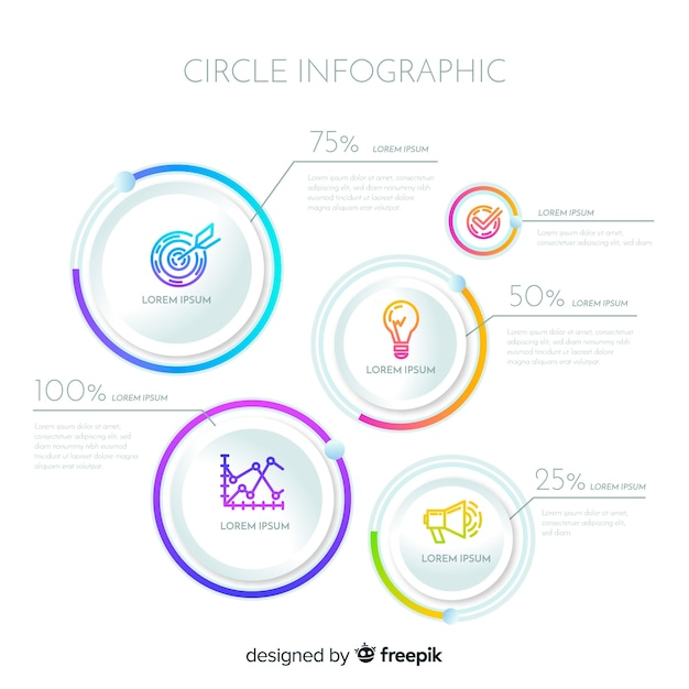 Circle infographic modern design Free Vector