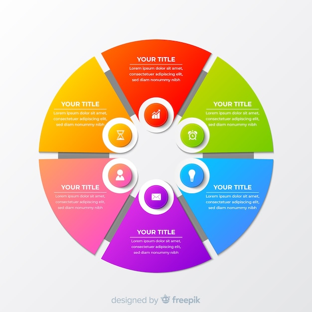Circle infographic Free Vector