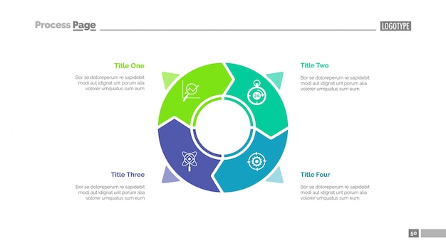 Circle infographics slide template Free Vector