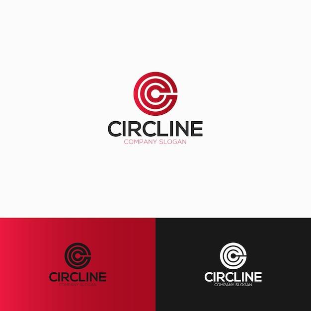 circle letter c logo template premium vector