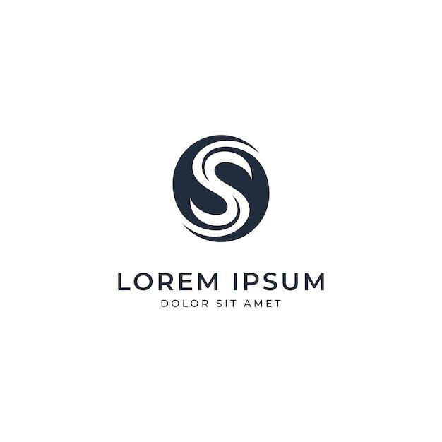 circle letter s logo template premium vector