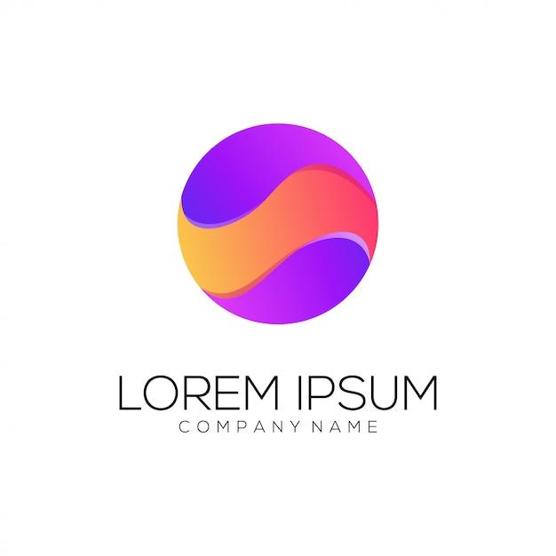 Circle logo abstract Premium Vector