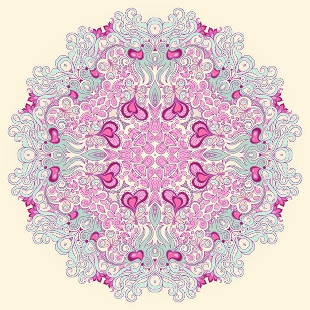サークル紫パターン Premiumベクター