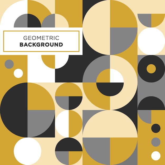 Circle shape geometric background Premium Vector