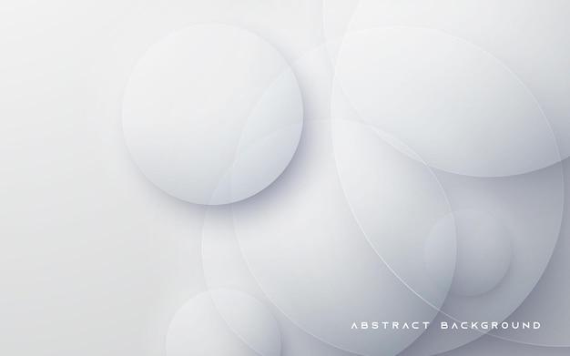 Форма круга белый абстрактный фон Premium векторы