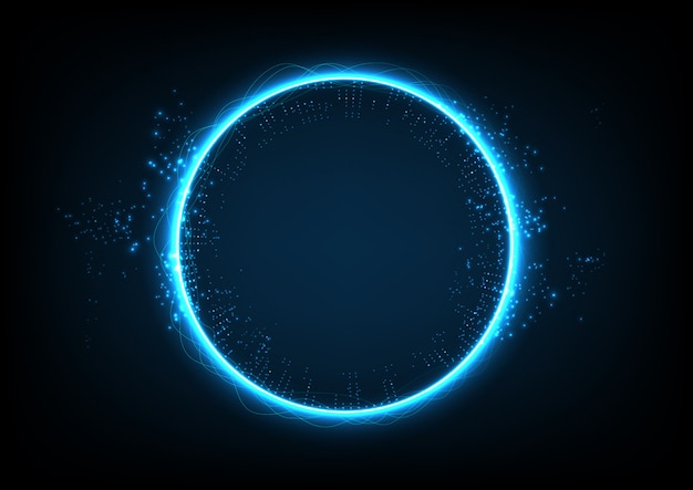Circle technology abstract background Premium Vector
