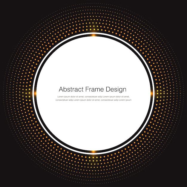 Круглая белая рамка на фоне золотых частиц Premium векторы